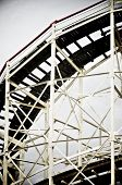 picture of amusement park rides  - Cyclone Roller coaster in the Coney Island Astroland Amusement Park - JPG