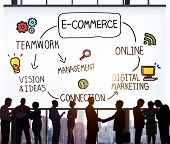 stock photo of e-business  - E - JPG