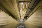 picture of pipe-welding  - Industrial interior with welded silos from above - JPG
