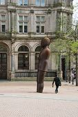 picture of west midlands  - The Iron Man statue by Anthony Gormley in Victoria Square Birmingham England - JPG