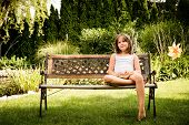 stock photo of daydreaming  - Daydreaming child portrait  - JPG