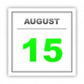 foto of august calendar  - August 15 - JPG