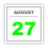 foto of august calendar  - August 27 - JPG