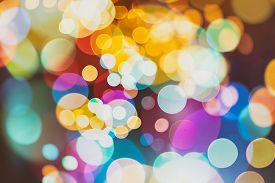 image of colore  - Festive Background With Natural Bokeh And Bright Golden Lights - JPG