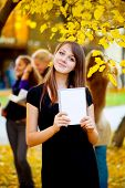 stock photo of teenage girl  - student - JPG