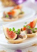 Fig and pate tartlets for Christmas dinner
