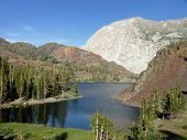 Lake At Tioga Pass, California, Usa