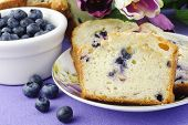 Blueberry Bread With Fresh Blueberries