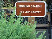 Smokng Area Sign