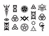 stock photo of pentacle  - Mystique Symbols set VI - JPG