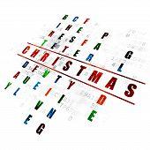 Постер, плакат: Entertainment concept: Christmas in Crossword Puzzle