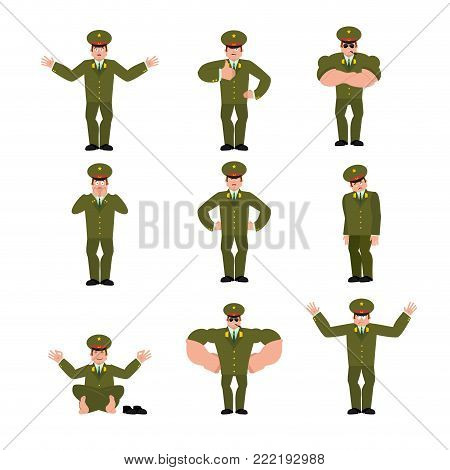 Russian Officer Set Poses And