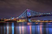 Benjamin Franklin Bridge en la noche
