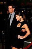 LOS ANGELES, CA - DEC 9: Josh Duhamel and wife Fergie aka Stacy Ferguson at the premiere of 'Nine' h