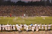 Long Exposure Of Football Game
