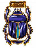 Símbolo sagrado egípcio - escaravelho.