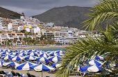 Beach of Los Cristianos at Tenerife