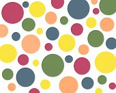 Primary Colors Polkadot Background