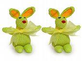 Two Green Tiny Rabbits