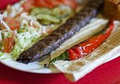 Turkish tradition meal - Adana kebab