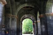 picture of apostolic  - The colonnade of armenian apostolic church Armenia - JPG