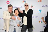 LOS ANGELES - AUG 1:  John Goodman, Ken Jeong, Chevy Chase arriving at the NBC TCA Summer 2011 Party