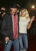 LOS ANGELES - NOV 6: Pamela Anderson; Kid Rock at the premiere of '8 Mile' at the Mann Village Theater on November 6, 2002 in Los Angeles, California