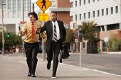 Businessmen In A Hurry