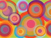 Psychedelic Pop Rainbow Circles (Vector)