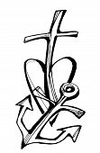 faith - hope - love, Collection of drawing symbols