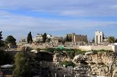 image of golgotha  - The mountain Golgotha in Muslim quarter  Jerusalem - JPG