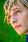 stock photo of handsome-male  - Close up portrait of a stylish teenager - JPG