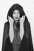 Halloween Masquerade. Halloween Party. Damn Pretty Woman Devil. Death In Black Cloak Symbol. Vampire poster
