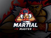 Club Sport Style Mascot Design. Fighters Prepare To Fight. Mascot Character Vector Illustration Temp poster