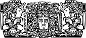 Tríptico Maya en madera A