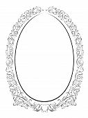 calligraphy penmanship oval baroque frame black