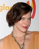 LOS ANGELES - APR 21:  Milla Jovovich arrives at the 23rd GLAAD Media Awards at Westin Bonaventure Hotel on April 21, 2012 in Los Angeles, CA