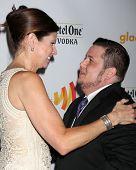 LOS ANGELES - APR 21:  Mary Bono Mack; Chaz Bono. arrives at the 23rd GLAAD Media Awards at Westin Bonaventure Hotel on April 21, 2012 in Los Angeles, CA