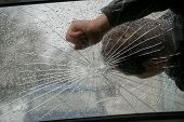 The Man On The Broken Windshield. The Accident In The City poster