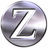 3D Silver Letter Z