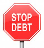 Stop Debt Concept.