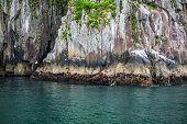The Beautiful Cliffs In Resurrection Bay In Kenai Fjords National Park Near Seward Alaska. poster