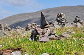 Altay stone piramides