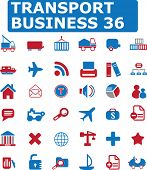 36 transport business icons # 06 - vector set
