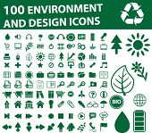 100 green environment icons