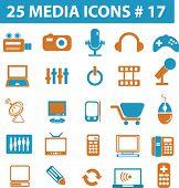 25 media icons # 17 - vector set