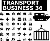 transport business signs - vector set