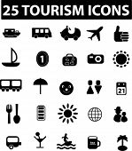 tourism icons - black series. more icons you can find in my portfolio.