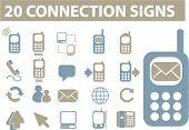 20 Verbindung signs.vector.
