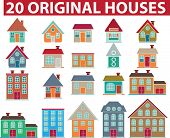 20 houses.vector colorido original